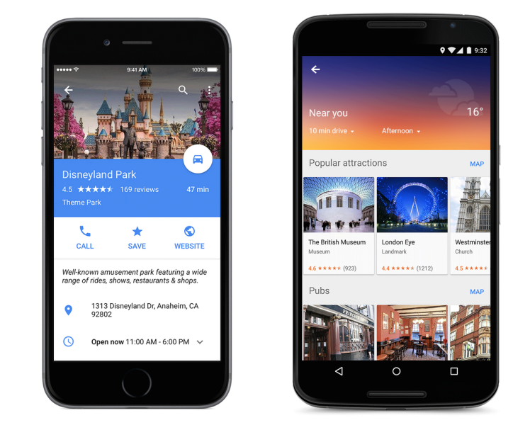 Google Redesigns Maps, Adds OpenTable Reservations, Uber Estimates