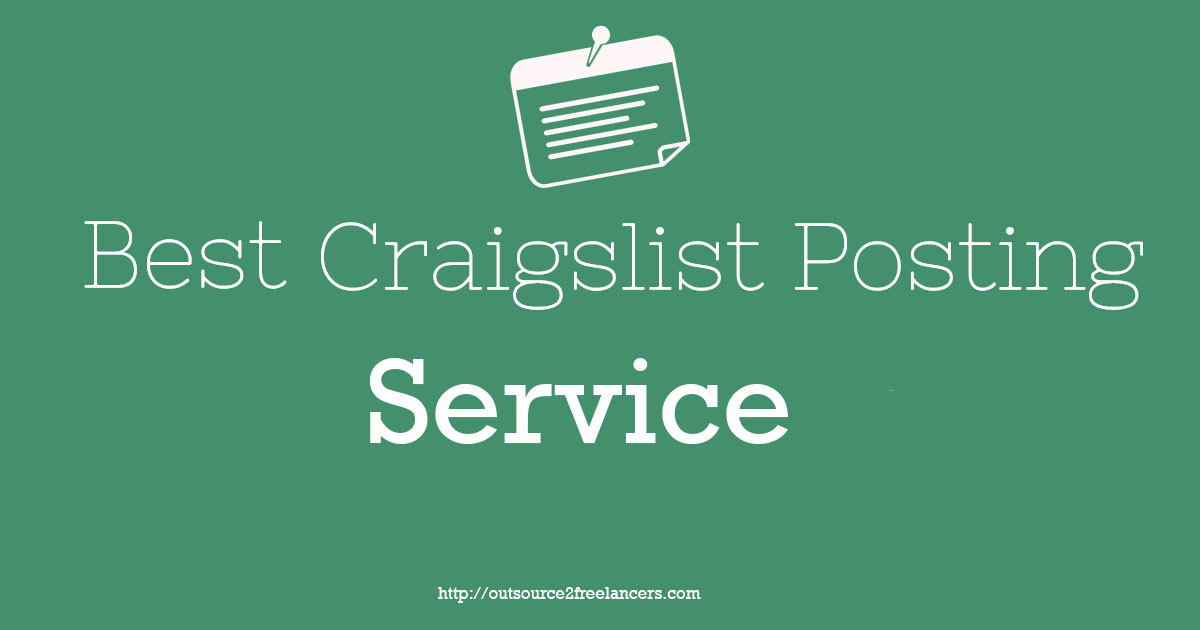 Best Craigslist Posting Service by Outsource2Freelancers