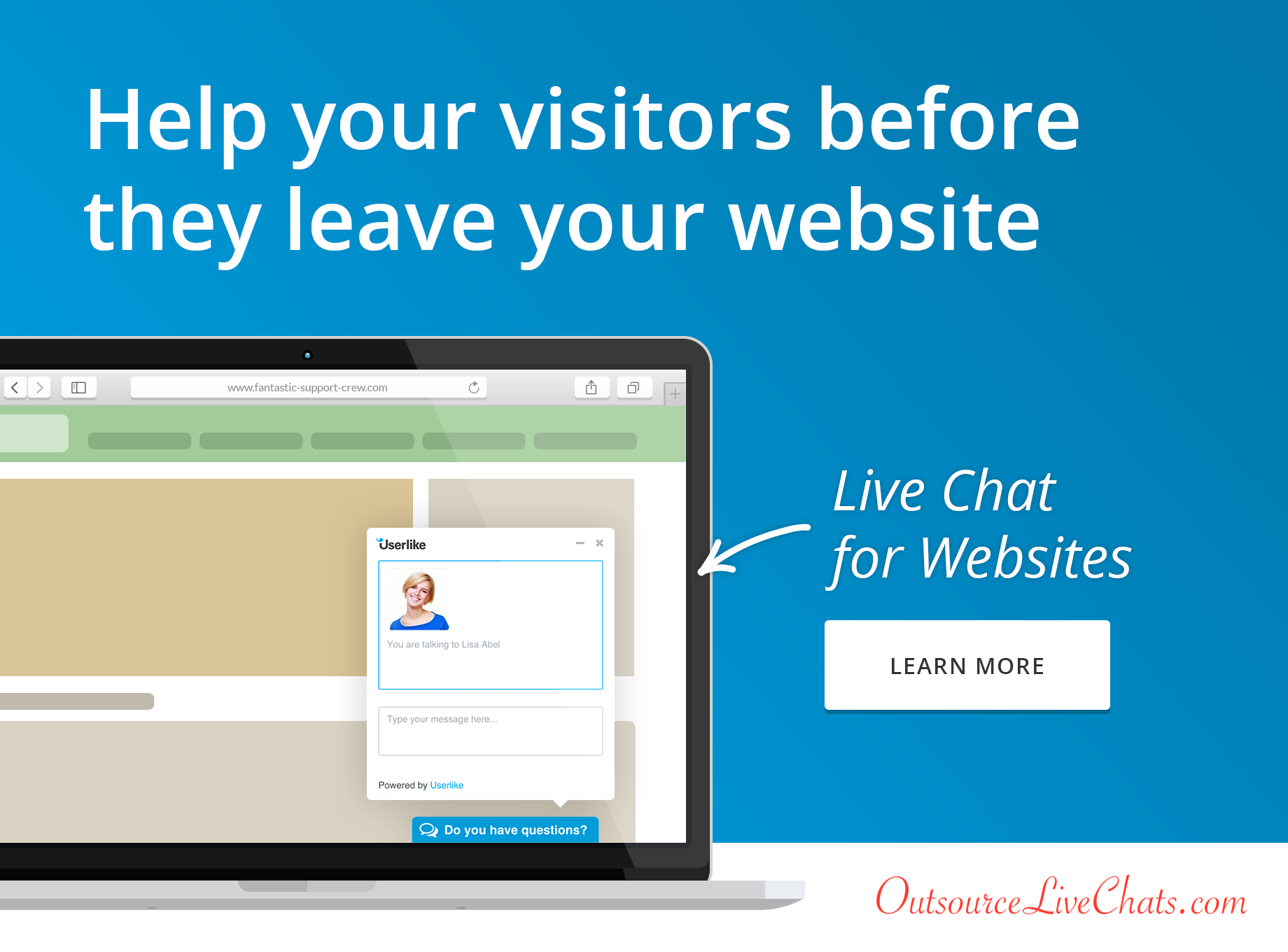 Live chat on your website
